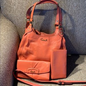 Coach purse with matching wallet. Slightly used